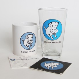 pkg72: Barsuk Records / Barsuk Records Pint Glass + Mug