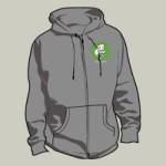 br10: Barsuk Records / Barsuk Records Zipper Hoodie