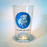 brglass01: Barsuk Records / Barsuk Pint Glass